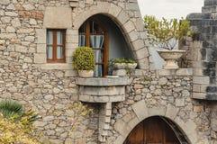 Güell Cellar - Garraf, Barcelona Spain. GARRAF, SPAIN - OCTOBER 11, 2016: Celler Güell by Antoni Gaudi in the Garraf, Barcelona province. Catalonia, Spain Royalty Free Stock Image