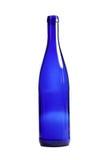 Garrafa azul vazia Fotos de Stock Royalty Free