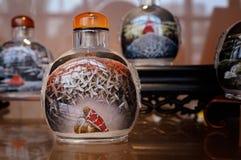 Garrafa chinesa do pó para inalações com pintura interna Imagens de Stock Royalty Free
