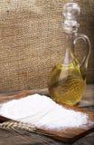 Garrafa con aceite Fotografía de archivo libre de regalías
