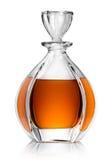 Garrafa con el whisky Imágenes de archivo libres de regalías