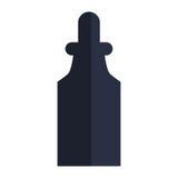 garrafa da medicina com ícone do conta-gotas Fotografia de Stock Royalty Free