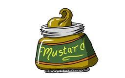 GARRAFA da MOSTARDA, ilustração Imagens de Stock Royalty Free