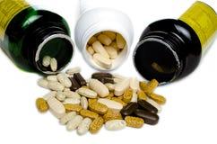 Garrafa 3 das vitaminas Foto de Stock Royalty Free