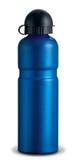 Garrafa de água de aço azul imagens de stock