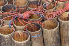Garrafa de bambu imagem de stock