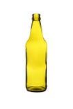 Garrafa de cerveja verde em um fundo branco Imagens de Stock