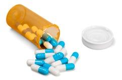 Garrafa de comprimido com cápsulas Fotos de Stock