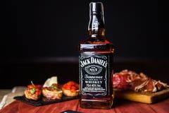 Garrafa de Jack Daniels imagens de stock