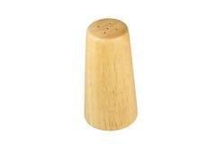 Garrafa de madeira da pimenta preta isolada Foto de Stock Royalty Free