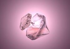 Garrafa de perfume das mulheres no fundo cor-de-rosa Fotos de Stock