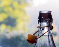 Garrafa de vidro com o tampão aberto da mola Imagem de Stock Royalty Free