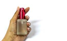 Garrafa de vidro cosmética Imagem de Stock
