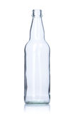 Garrafa de vidro vazia clara Fotografia de Stock