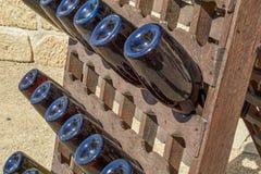 Garrafa de vinho 'Sachsenkeule fotografia de stock