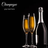 Garrafa do champanhe Foto de Stock Royalty Free