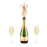Garrafa do champanhe Fotografia de Stock Royalty Free