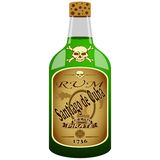 Garrafa do rum do pirata Fotografia de Stock
