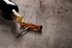 Garrafa do vinho Imagens de Stock