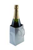 Garrafa do vinho como um presente Imagens de Stock Royalty Free