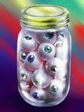 Garrafa dos globos oculares humanos ilustração do vetor