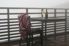 Garrafa e copo de vinho de vinho Fotografia de Stock