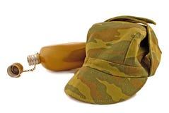 Garrafa e tampão militares Foto de Stock Royalty Free