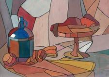 Garrafa e vaso Fotografia de Stock