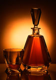 Garrafa e vidro Imagem de Stock Royalty Free