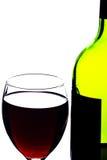 Garrafa e vidro de vinho Fotos de Stock