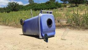 Garrafa plástica de voo com escaninho de reciclagem filme