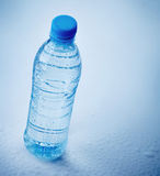 Garrafa plástica molhada da água Fotos de Stock