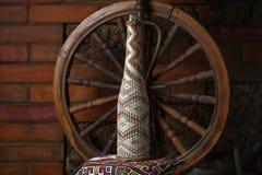 Garrafa tradicional do vinho Imagens de Stock Royalty Free
