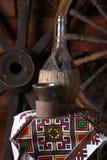Garrafa tradicional do vinho Imagens de Stock
