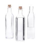 Garrafa vazia do licor em um fundo branco Imagens de Stock Royalty Free