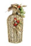 Garrafa velha do vinho decorada Imagem de Stock Royalty Free