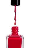 Verniz para as unhas vermelho Foto de Stock Royalty Free