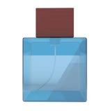 Garrafas azuis do pulverizador de perfume Fotos de Stock