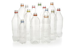 Garrafas plásticas da bebida para recicl. Imagem de Stock Royalty Free