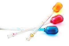 Garrafas coloridas Fotografia de Stock Royalty Free