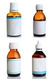 Garrafas com medicinas, colagem Fotografia de Stock Royalty Free
