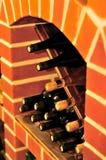 Garrafas da adega de vinho foto de stock royalty free
