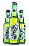 Garrafas da cerveja de Tuborg Fotografia de Stock