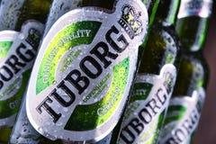 Garrafas da cerveja de Tuborg Fotos de Stock Royalty Free