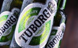 Garrafas da cerveja de Tuborg Imagem de Stock