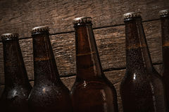 Garrafas da cerveja fria Foto de Stock