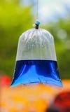 Garrafas da cor de água fotos de stock