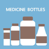 Garrafas da medicina, ícone da ilustração do vetor Foto de Stock Royalty Free