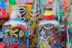 Garrafas da terracota, artesanatos indianos justos em Kolkata Imagens de Stock Royalty Free