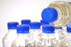 Garrafas de água Fotos de Stock